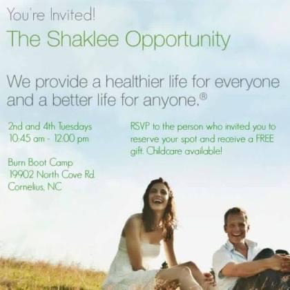 Shaklee Opportunity Invite